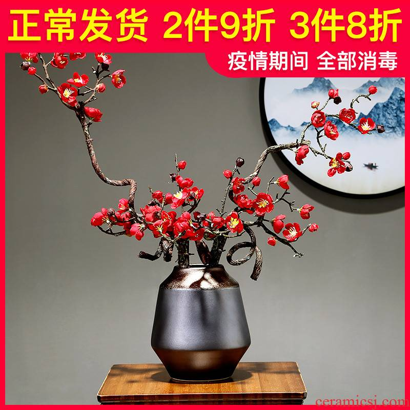The Vases, flower arranging dried flowers sitting room adornment is placed jingdezhen porcelain ceramic hotel bedroom porch decoration decoration