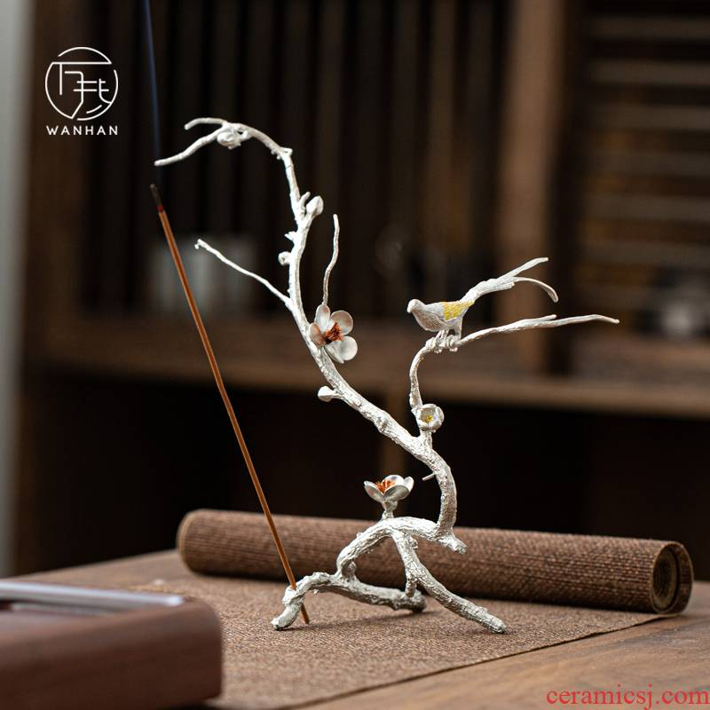 Tin, creative incense inserted on the pay-per-tweet branches sweet little zen Japanese joss stick inserted the Japanese tea taking tea furnishing articles