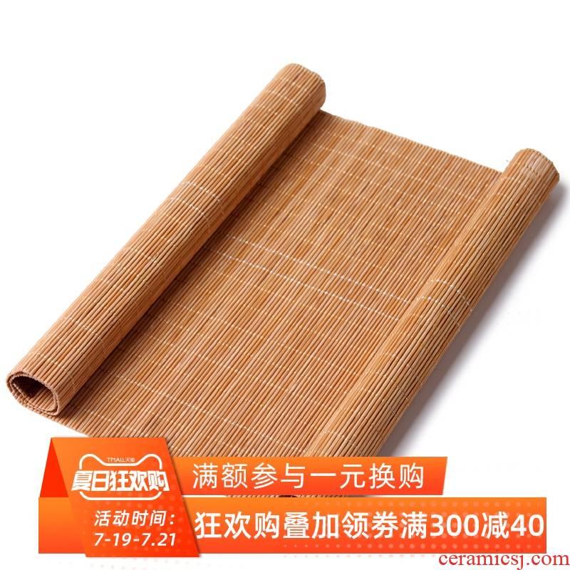 Tea Tea tray bamboo mat bamboo mat bamboo has bamboo mat bamboo shade protection, Tea - leaf filtering kung fu Tea Tea accessories
