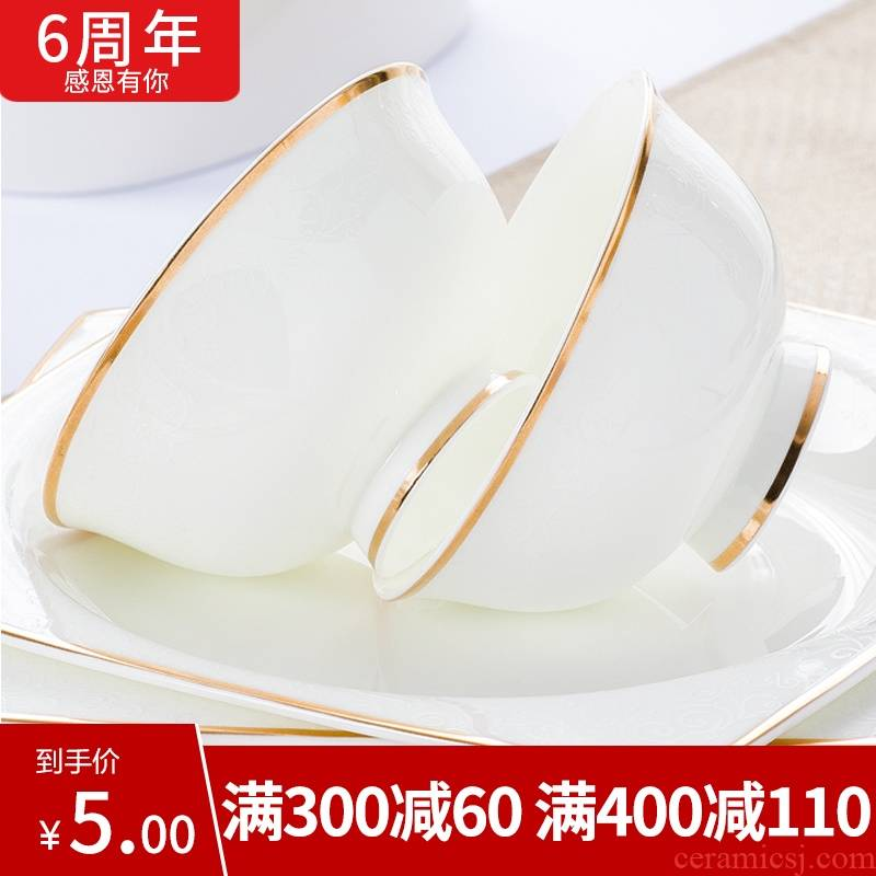 Gold flexibly item up phnom penh dish suit household contracted Europe type combination jingdezhen ceramic tableware suit dishes