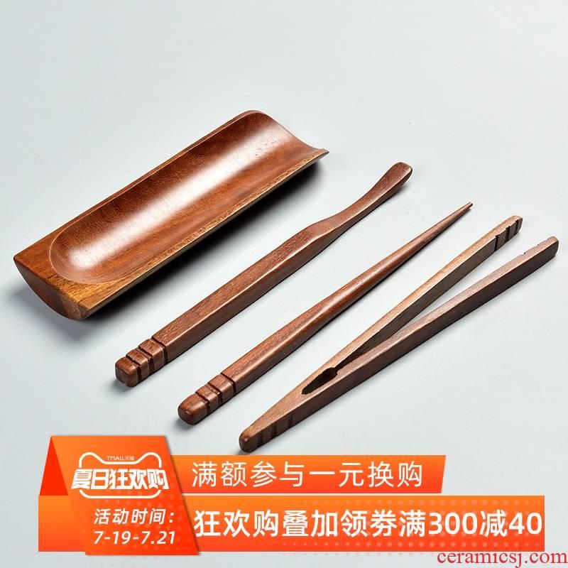 Bamboo tea is 4 times grilled chicken wings hua limu tea spoon ChaGa TSP tea tea holder kung fu tea tea accessories