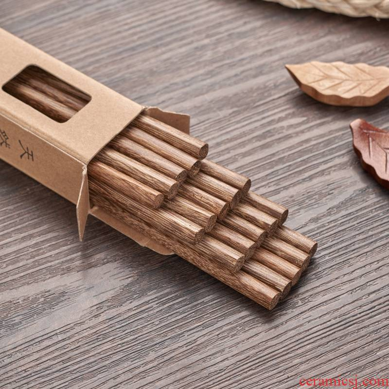Without lacquer idea for household utensils to Calvin wings chopsticks the the original wooden 10 pairs of moistureproof mildew family suits for the chopsticks