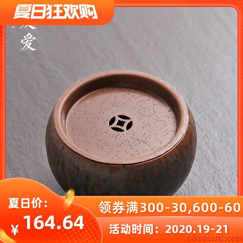 Love red copper pot of construction water tea wash to dry terms plate writing brush washer tea accessories pure copper cup small water jar water dish washing