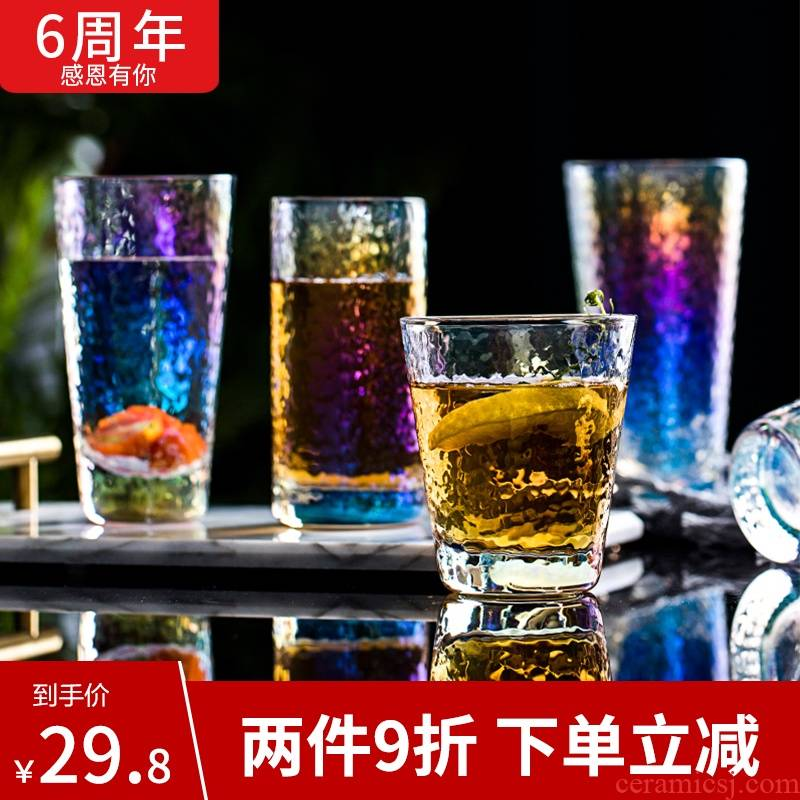Web celebrity ins manual dazzle see hammer glass glass cup cup home sitting room tea juice drinks cup