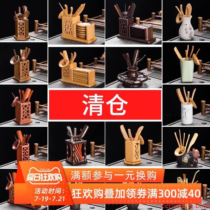 "Brand ""clearance"" kung fu tea accessories tea six gentleman ChaGa tea spoon, furnishing articles 6 gentleman 's suit tea knife"