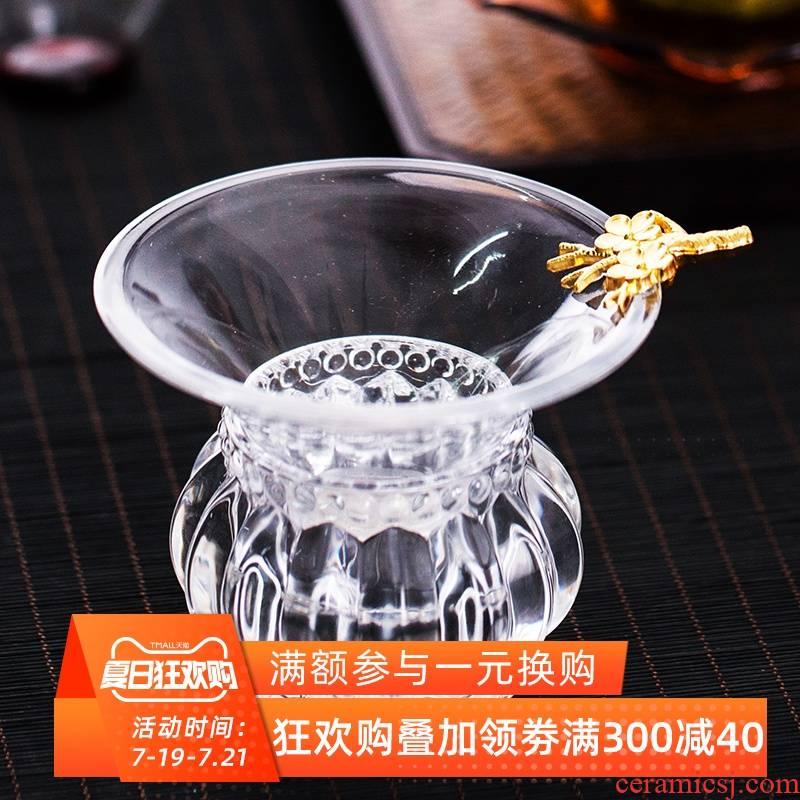 ) screen pack tea - leaf filter transparent heat - resistant glass tea fight kung fu tea tea tea tea accessories