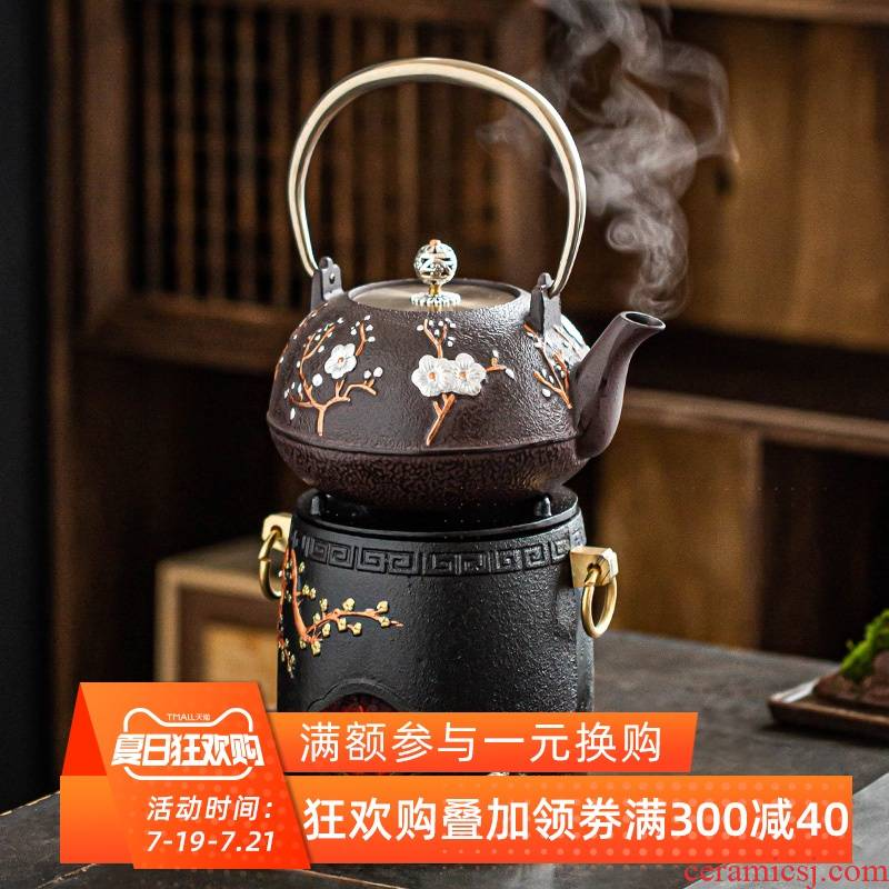 Carbon iron pot fire furnace heating furnace cast iron kung fu tea boiled tea kettles wind heating household is suing alcohol charcoal burners
