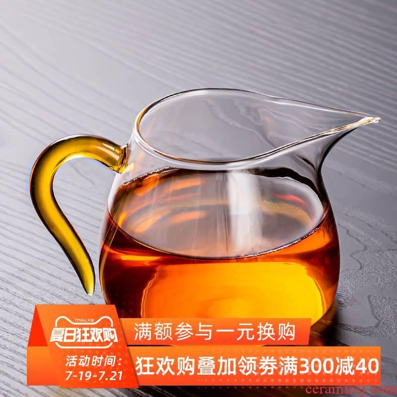 Reasonable heat crystal glass cup hammer eye grain tea sea points tea cup more kung fu tea tea accessories large