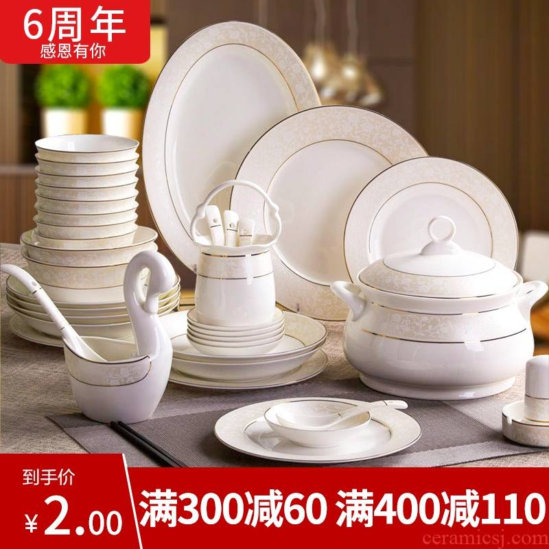 Flowers deep rhyme item DIY jingdezhen ceramic tableware dishes suit European jobs western mercifully rainbow such use