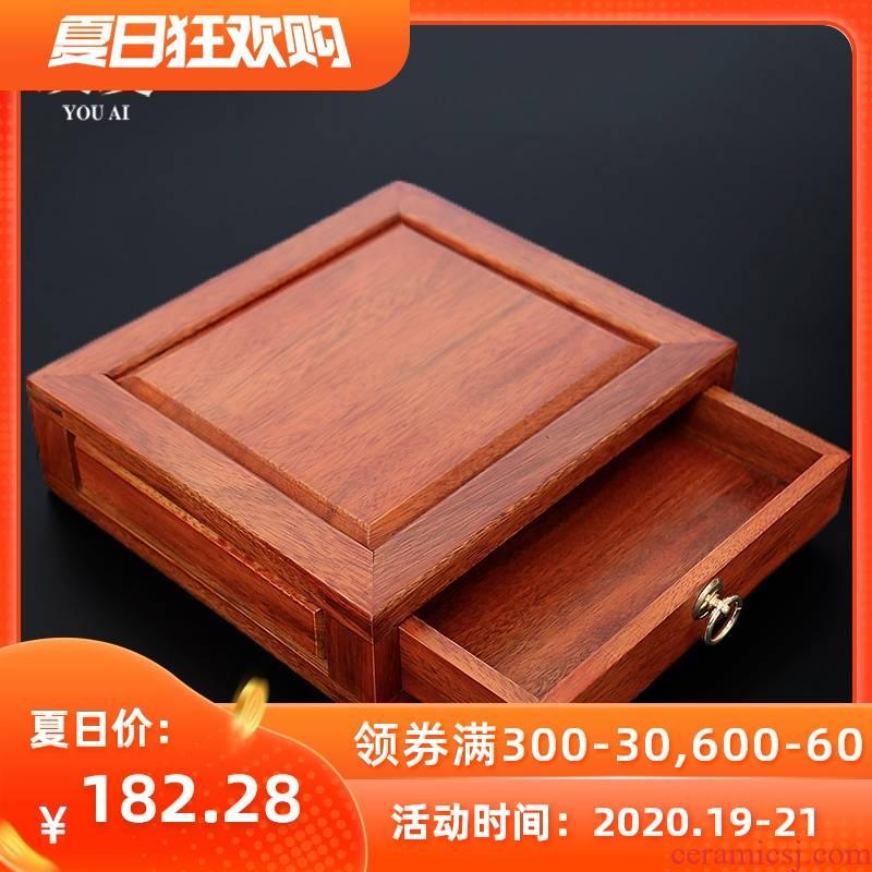 Love kung fu tea tea with parts spend pear wood boxes reward points, tea boxes, black tea tea tea knife review panel