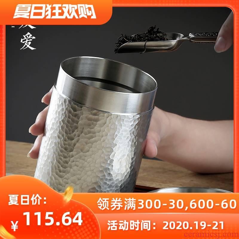 Love and pure tin tin as cans of tea pot seal pot portable travel green tea tin trumpet large metal tea gift boxes