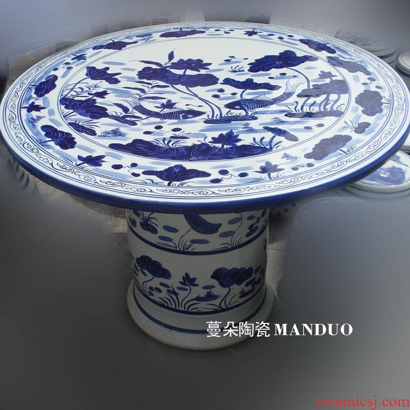 Jingdezhen lotus carp is suing rain not afraid bask in frost porcelain porcelain table set the table