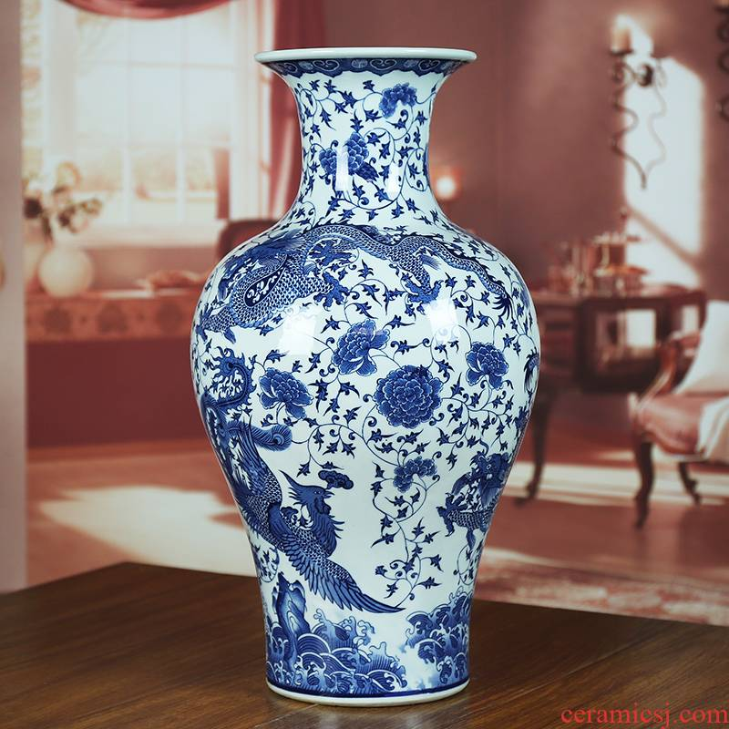 Jingdezhen ceramics I ground vase household act the role ofing is tasted furnishing articles milk powder gold and silver moon cakes through the sitting room