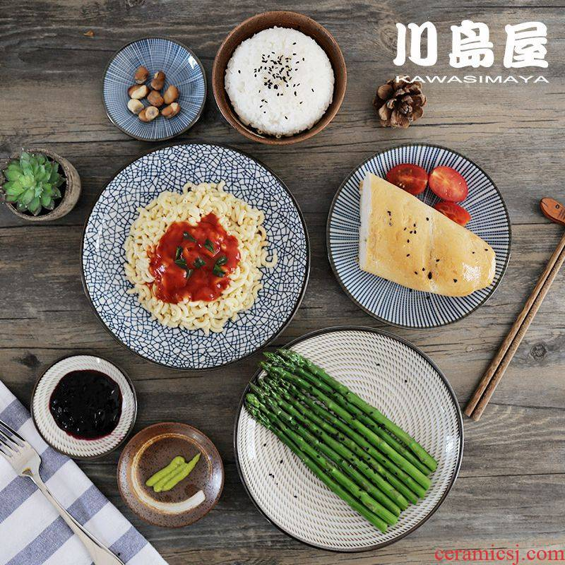 Sichuan and restoring ancient ways in Japanese tableware bowl dish dish dish creative web celebrity move western food steak home plate plate