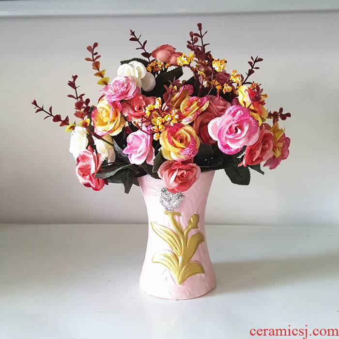 European rural simulation flowers, silk flowers, artificial flowers Daisy suits for the sitting room TV ark adornment put floral tea table