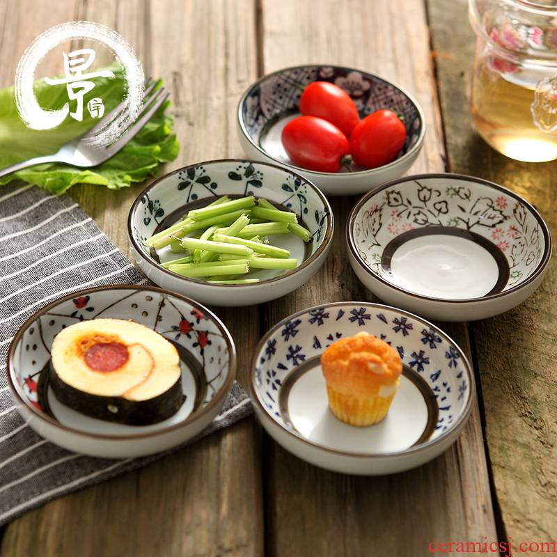 Japanese dip creative little dish suits for ipads plate of household snack dishes butterfly small plate ceramic plate