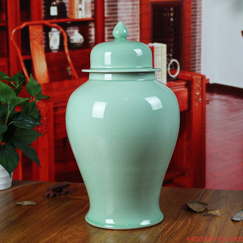 Archaize of jingdezhen ceramics slicing storage tank caddy fixings sealed tank general candy jar jar furnishing articles in the living room