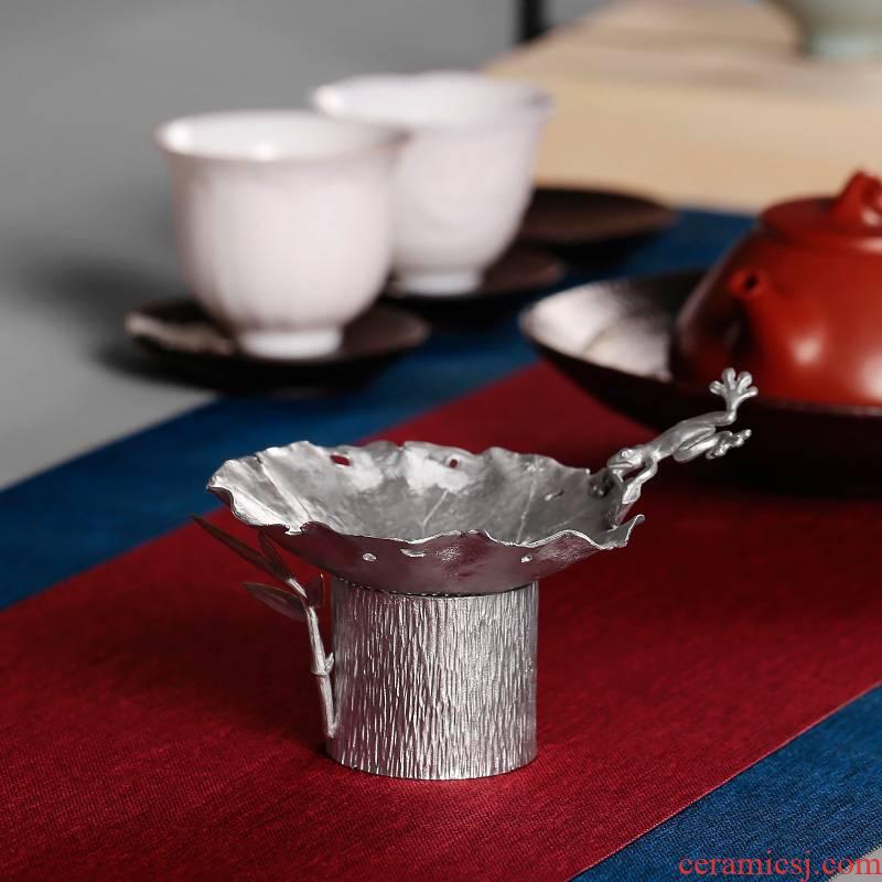 Tin, pure Tin tea kung fu tea tea accessories filter hook tea tea tea filters manually set