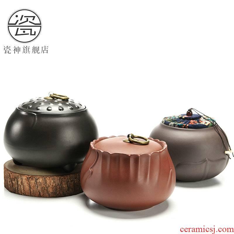 Porcelain god violet arenaceous caddy fixings seal pot size warehouse candy store content box wake receives ceramics pu 'er tea pot