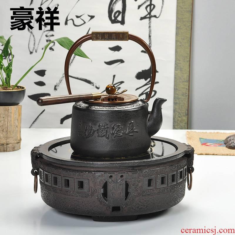 Howe auspicious iron cast iron tea stove household kung fu tea tea boiled tea, the electric furnace