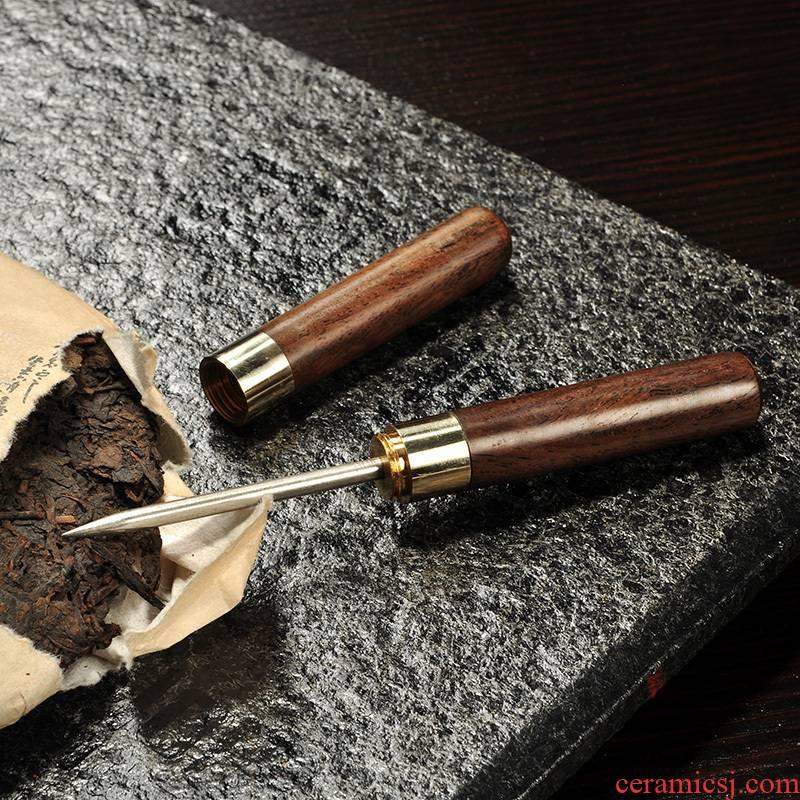Hao auspicious tea ebony ChaZhen travel taper knife black tea pu 'er tea tea tea tea accessories