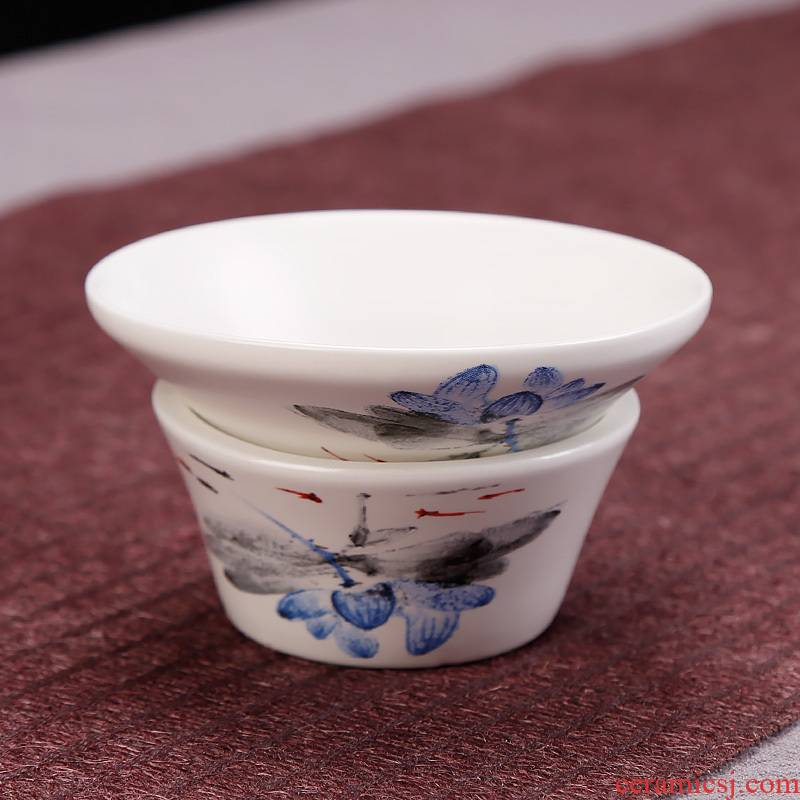 Ceramic kunfu tea, tea strainer filter filter tea kungfu tea accessories home office