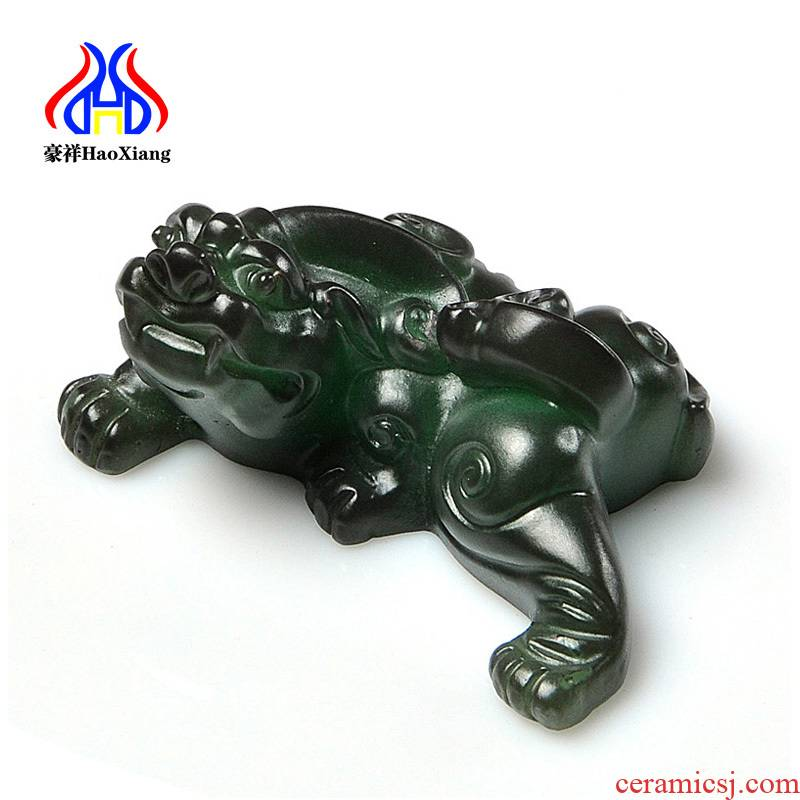 Howe auspicious spoil the mythical wild animal resin tea pet kung fu tea set tea tray tea accessories tea taking with zero