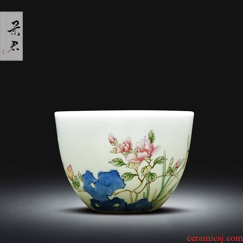 Jingdezhen ceramic porcelain enamel see all hand sample tea cup kung fu tea cup ceramic cup personal Lord