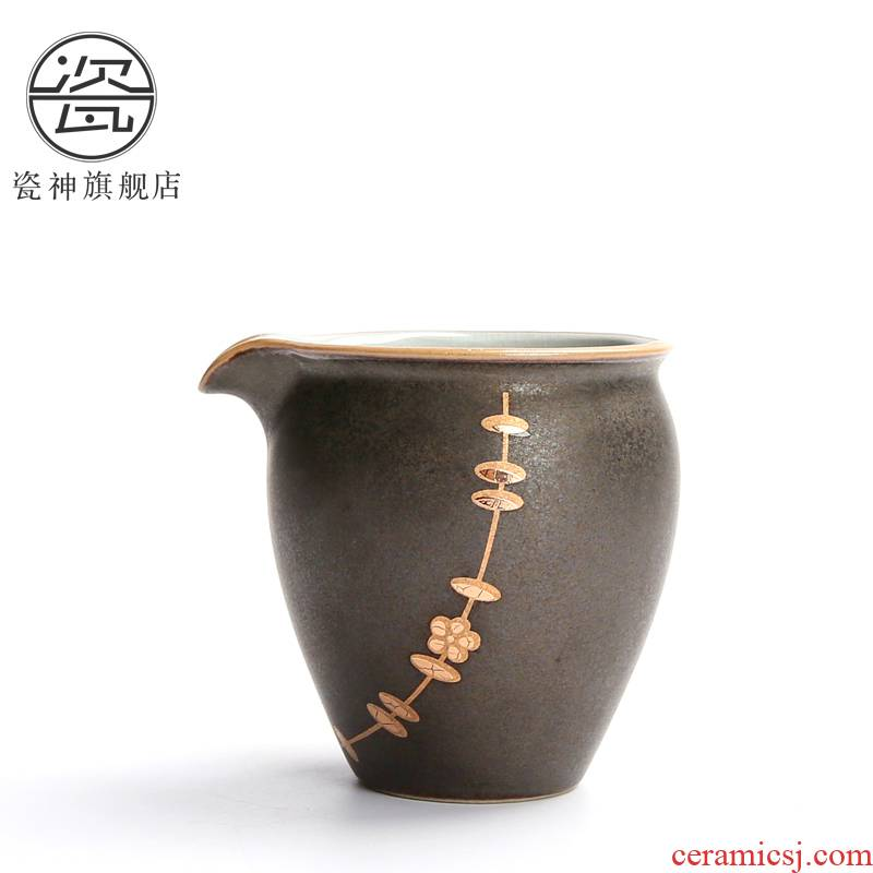 Your up porcelain the jun kung fu tea set hand - made paint filter fair keller of tea sea Japanese household contracted cups