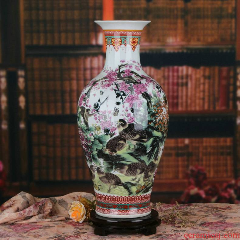 Chinese jingdezhen ceramics powder enamel 9, 12 fish large vases, Chinese crafts decorations
