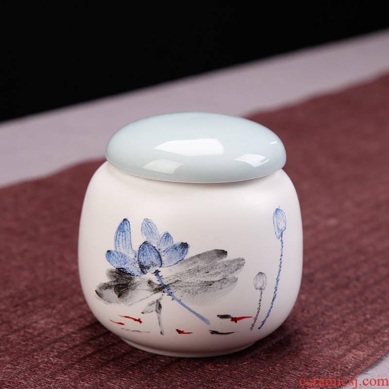 Tea pot set up ceramic seal save hidden jar of pu - erh Tea in large number candy store content box Tea urn easily