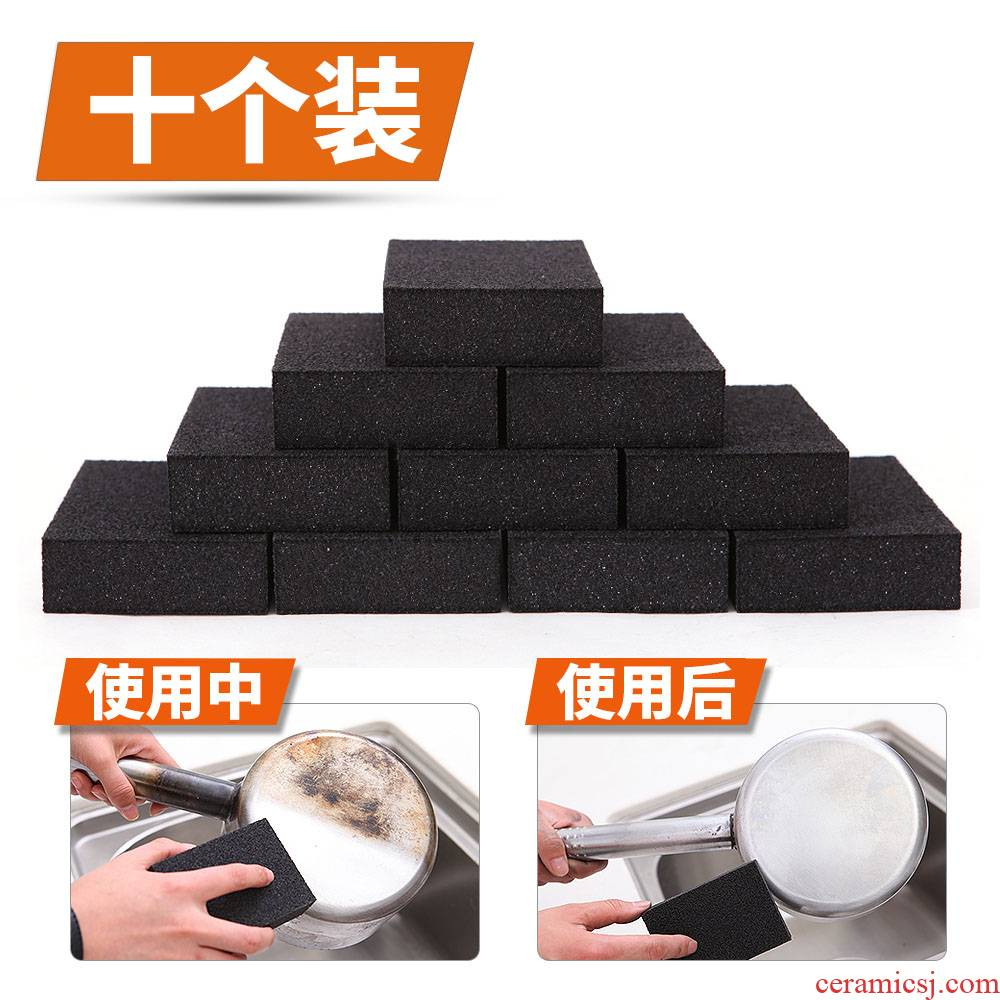 The Home of the emery sponge tiles kitchen POTS and pans magic brush to remove stubborn stains brushes 10 tablets