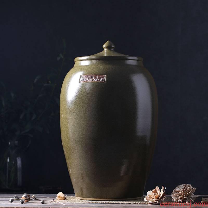 Period of ceramic barrel oil tank oil cylinder of jingdezhen ceramic jar jar jar 50 kg 100 jins