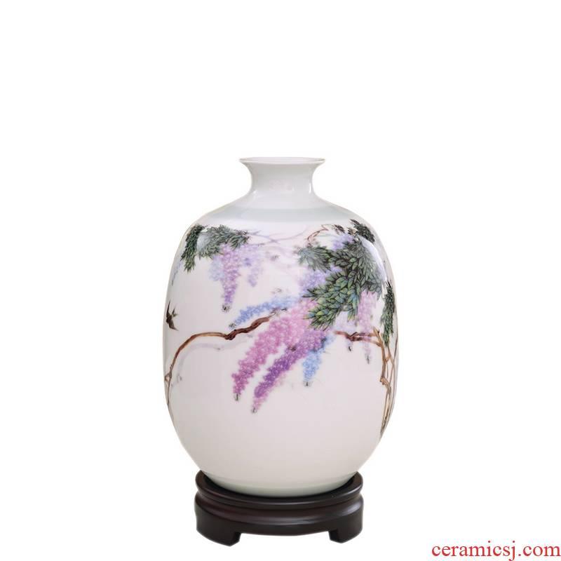 Jingdezhen porcelain, ceramic vase furnishing articles study porch decoration full small porcelain porcelain arts and crafts