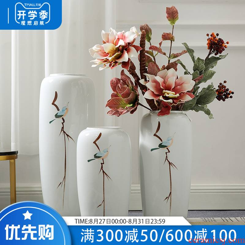 Jingdezhen ceramic furnishing articles of Chinese style landing a large sitting room hotel villa vase dried flowers home decoration