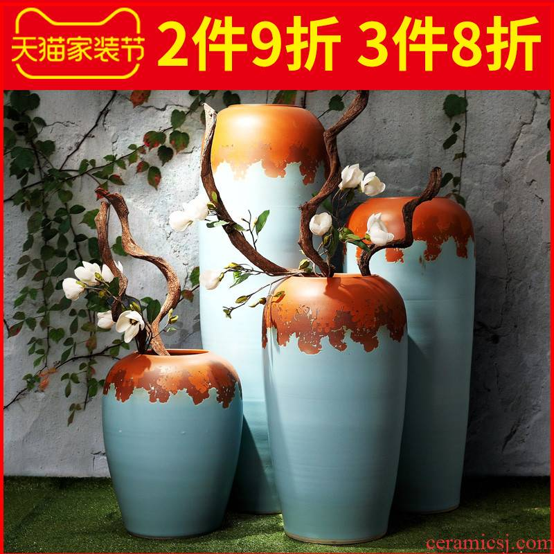 Jingdezhen ceramic vase landing restoring ancient ways is the sitting room porch dried flowers flower arrangement creative decorations furnishing articles flower implement suits for