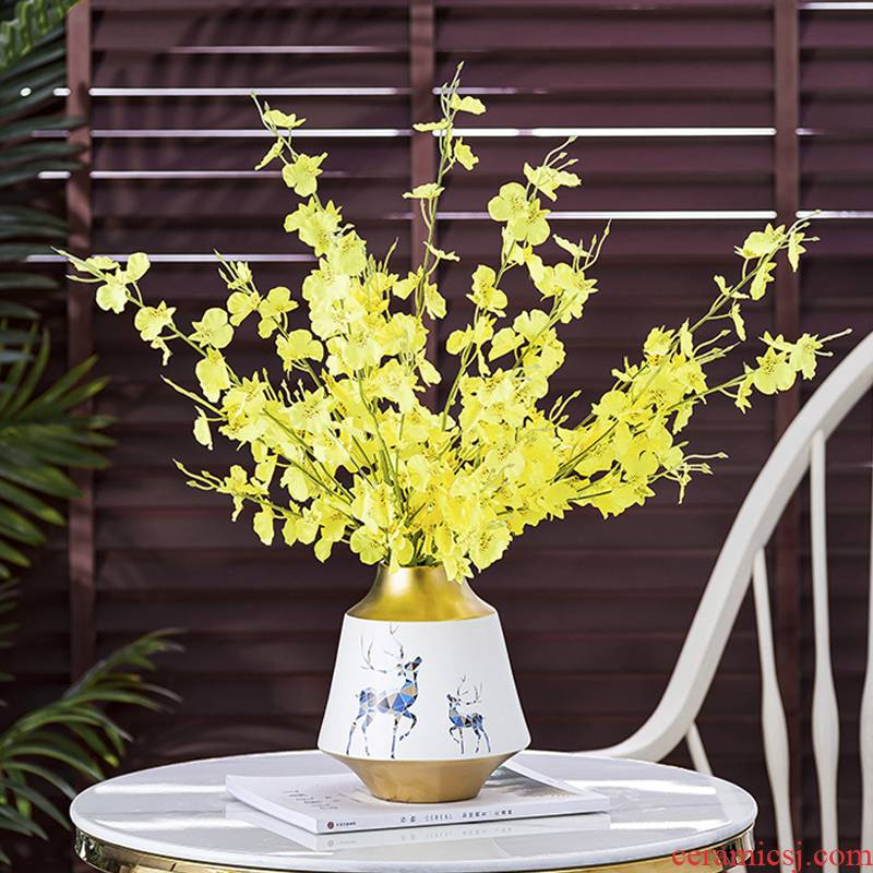 Light much wind furnishing articles hydroponic water raise creative ceramic vase vase Nordic wine porch sitting room adornment furnishing articles