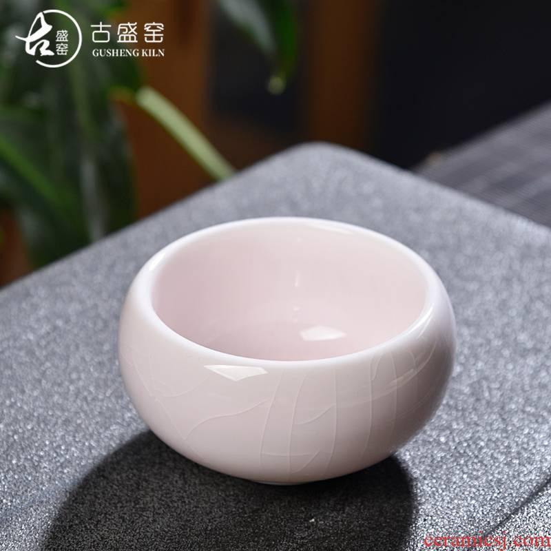 The ancient tea sheng up up ceramic cups, built lamp cup master cup single CPU kung fu tea bowl tea light cup