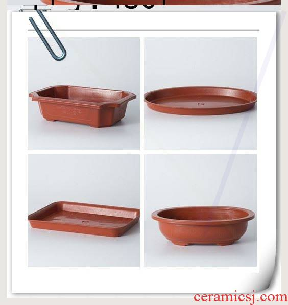 Rectangular flowerpot oval pot base plastic flower POTS base tray was pelvic floor plate plastic tray of circular plate