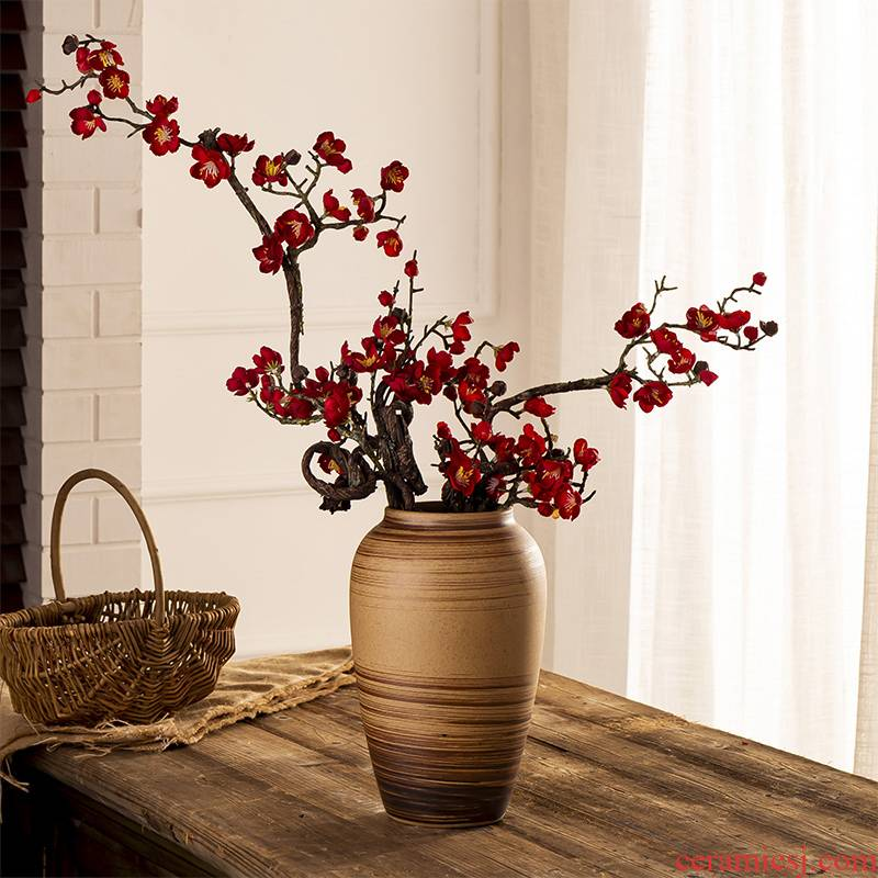 Jingdezhen ceramic vase simulation flower flower creative furnishing articles home living room table wine vintage soft adornment