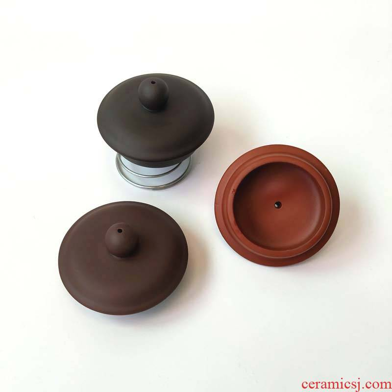 Zhu mud non - custom semi - manual lid for black palm red with violet arenaceous tea accessories teapot lid kettle cap