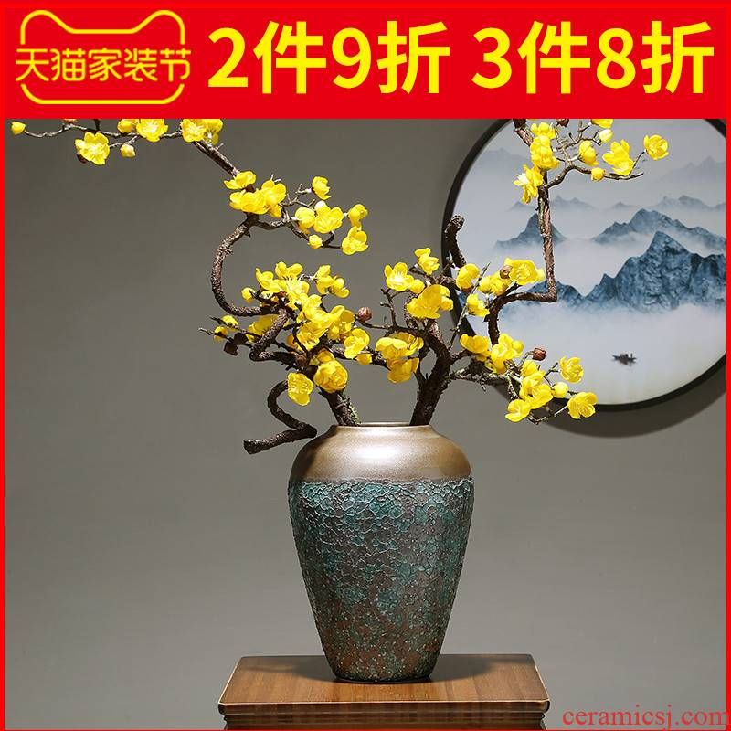 Jingdezhen I and contracted table light and decoration flower arranging ceramic flower implement vase in the sitting room porch dried flower adornment furnishing articles