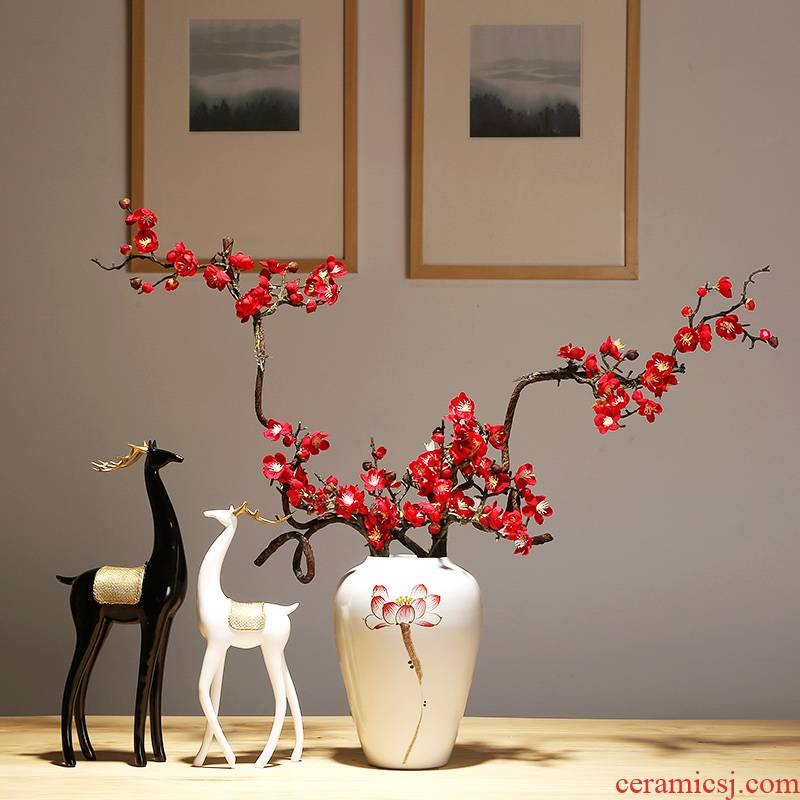 The modern new Chinese jingdezhen ceramic vase checking porcelain TV ark, sitting room porch home furnishing articles