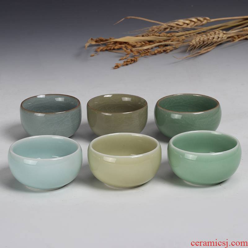 Jia the qing fang longquan celadon ceramic cups master hat cup kung fu tea set spare parts cup sample tea cup