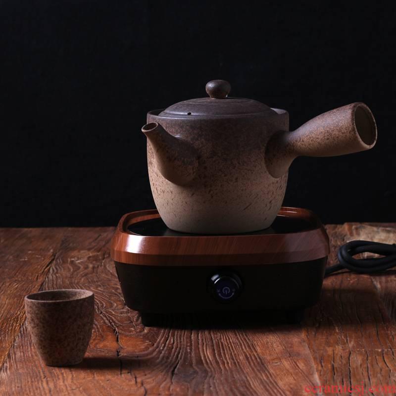 Kung fu tea kettle crude some ceramic porcelain clay POTS to boil the teapot side put the POTS, large capacity electric POTS TaoLu tea stove charcoal stove
