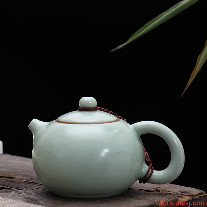 Your up ceramic piece of azure teapot to leave but for the family with a single pot of Your porcelain kung fu tea tea restoring ancient ways, xi shi pot