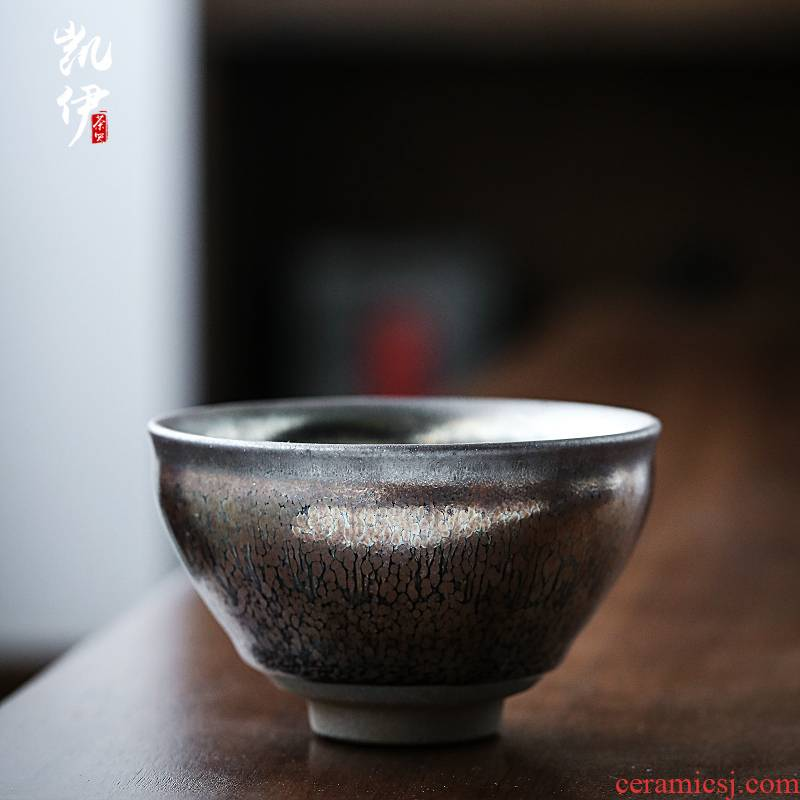 Jianyang undressed ore gold spot built by hand lamp that host personal kung fu tea cup, single glass ceramic cups to build one sample tea cup