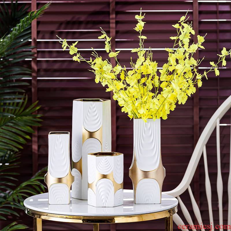 Nordic I and contracted, ceramic vases, furnishing articles living room TV cabinet table dry flower arranging flowers light key-2 luxury home decoration