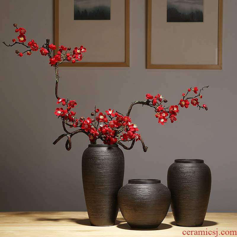 Jingdezhen ceramics vase I and contracted household vase TV ark, new Chinese style porch flower vase suits for