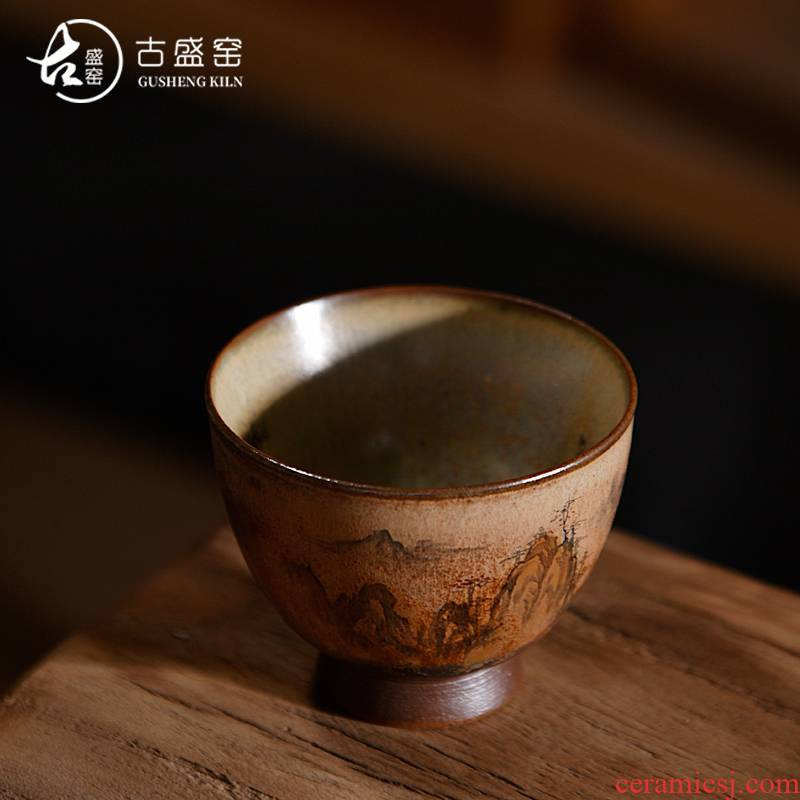 Ancient sheng wood up up change sample tea cup single CPU jingdezhen hand - made master cup personal cup creative tea cups
